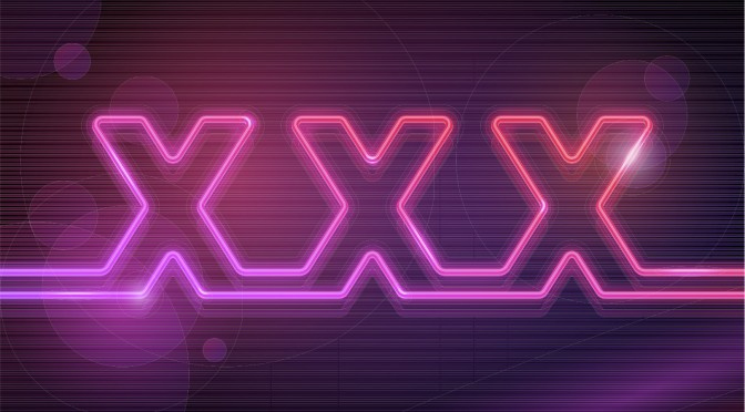 Neon sign of XXX