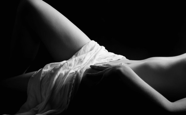 Black and White Art Photo of Woman's Hips