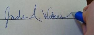 Jade's signature