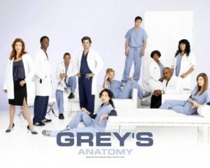 Shot of original Grey's Anatomy Cast