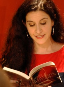 "Photo of Jade A. Waters reading ""Ophelia the Second"""