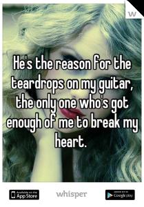 Teardrops on my guitar pic